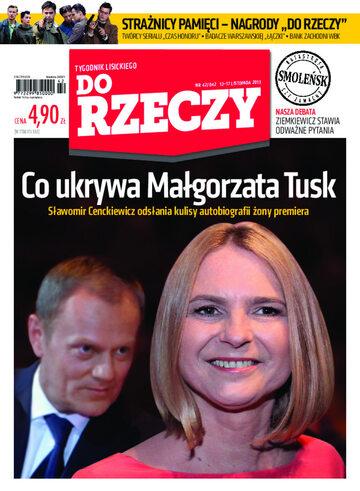 """Okładka tygodnika """"Do Rzeczy"""", wydanie nr 42/2013 (42)"""