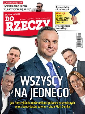 """Okładka tygodnika """"Do Rzeczy"""", wydanie nr 11/2020 (364)"""