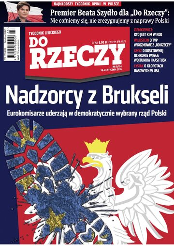 """Okładka tygodnika """"Do Rzeczy"""", wydanie nr 3/2016 (154)"""