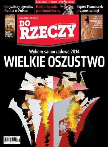 """Okładka tygodnika """"Do Rzeczy"""", wydanie nr 48/2014 (96)"""