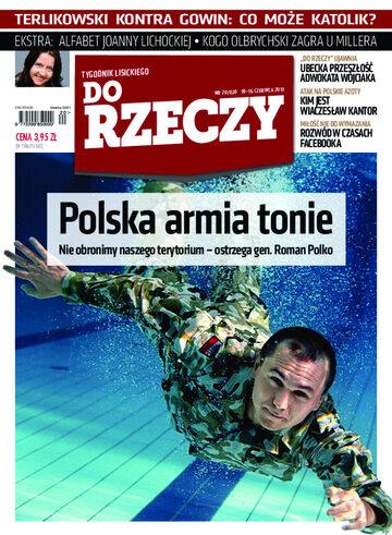 """Okładka tygodnika """"Do Rzeczy"""", wydanie nr 20/2013 (20)"""