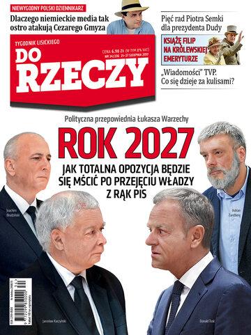 """Okładka tygodnika """"Do Rzeczy"""", wydanie nr 34/2017 (236)"""