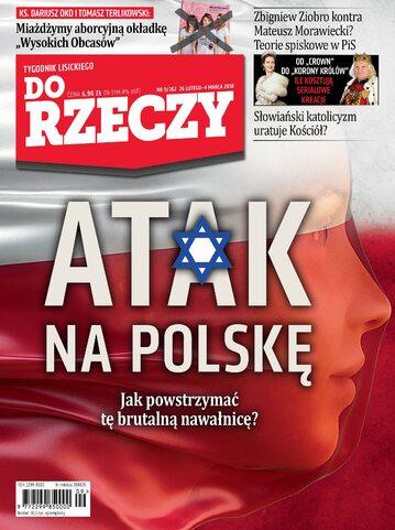 """Okładka tygodnika """"Do Rzeczy"""", wydanie nr 9/2018 (262)"""