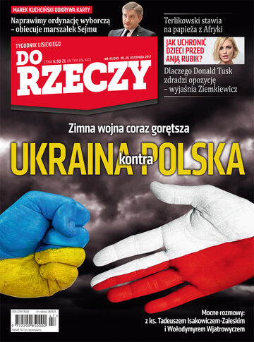 """Okładka tygodnika """"Do Rzeczy"""", wydanie nr 47/2017 (249)"""