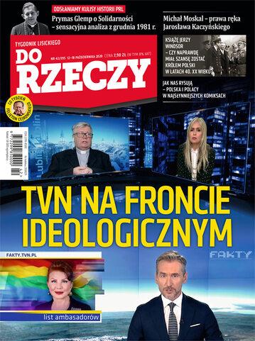 """Okładka tygodnika """"Do Rzeczy"""", wydanie nr 42/2020 (395)"""
