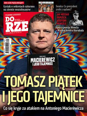"""Okładka tygodnika """"Do Rzeczy"""", wydanie nr 38/2017 (240)"""