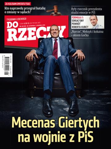 """Okładka tygodnika """"Do Rzeczy"""", wydanie nr 48/2018 (300)"""