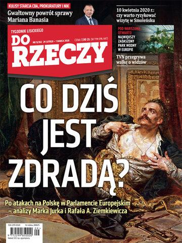 """Okładka tygodnika """"Do Rzeczy"""", wydanie nr 9/2020 (362)"""
