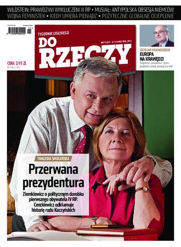 """Okładka tygodnika """"Do Rzeczy"""", wydanie nr 11/2013 (11)"""