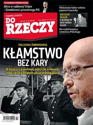 """Okładka tygodnika """"Do Rzeczy"""", wydanie nr 22/2020 (375)"""