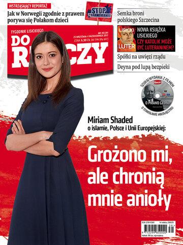 """Okładka tygodnika """"Do Rzeczy"""", wydanie nr 39/2017 (241)"""