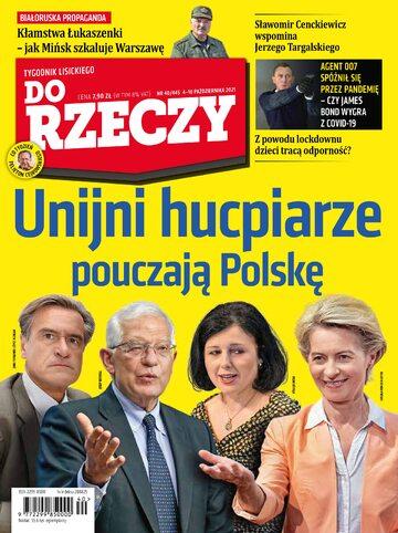 """Okładka tygodnika """"Do Rzeczy"""", wydanie nr 40/2021 (445)"""