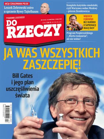 """Okładka tygodnika """"Do Rzeczy"""", wydanie nr 17/2021 (422)"""