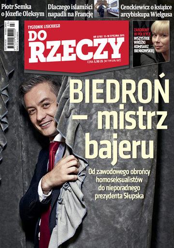 """Okładka tygodnika """"Do Rzeczy"""", wydanie nr 3/2015 (102)"""