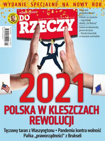 """Okładka tygodnika """"Do Rzeczy"""", wydanie nr 1/2021 (406)"""