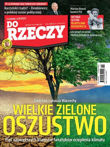 """Okładka tygodnika """"Do Rzeczy"""", wydanie nr 19/2021 (424)"""