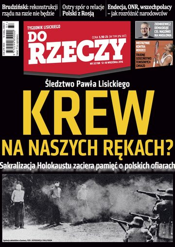 """Okładka tygodnika """"Do Rzeczy"""", wydanie nr 37/2016 (188)"""