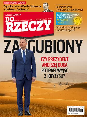"""Okładka tygodnika """"Do Rzeczy"""", wydanie nr 26/2018 (278)"""