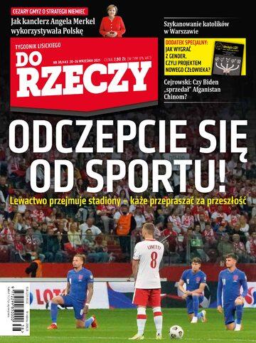 """Okładka tygodnika """"Do Rzeczy"""", wydanie nr 38/2021 (443)"""