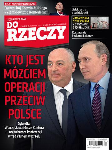 """Okładka tygodnika """"Do Rzeczy"""", wydanie nr 5/2020 (358)"""
