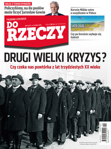 """Okładka tygodnika """"Do Rzeczy"""", wydanie nr 19/2020 (372)"""