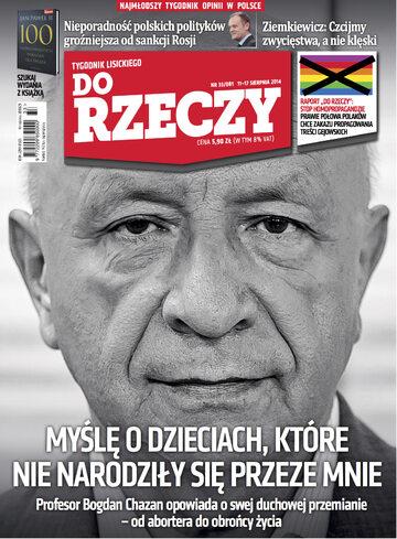 """Okładka tygodnika """"Do Rzeczy"""", wydanie nr 33/2014 (81)"""