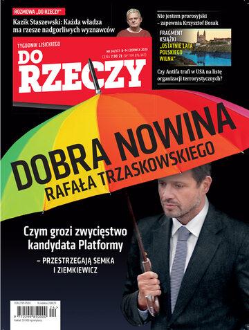 """Okładka tygodnika """"Do Rzeczy"""", wydanie nr 24/2020 (377)"""