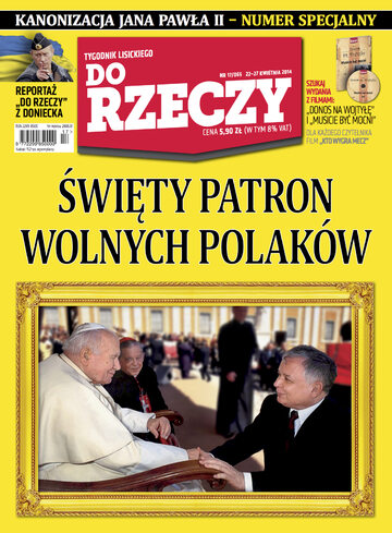 """Okładka tygodnika """"Do Rzeczy"""", wydanie nr 17/2014 (65)"""