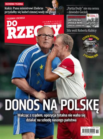 """Okładka tygodnika """"Do Rzeczy"""", wydanie nr 32/2017 (234)"""