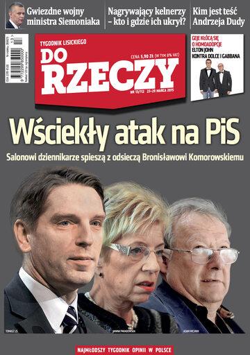 """Okładka tygodnika """"Do Rzeczy"""", wydanie nr 13/2015 (112)"""