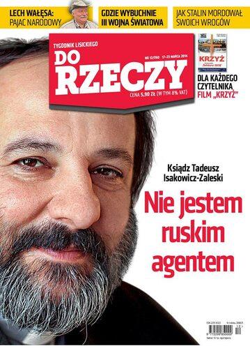 """Okładka tygodnika """"Do Rzeczy"""", wydanie nr 12/2014 (60)"""