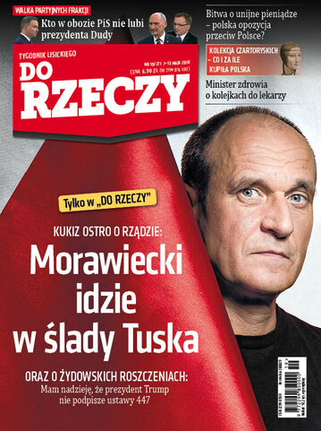 """Okładka tygodnika """"Do Rzeczy"""", wydanie nr 19/2018 (271)"""