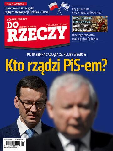 """Okładka tygodnika """"Do Rzeczy"""", wydanie nr 28/2018 (280)"""