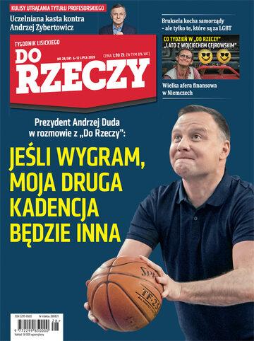 """Okładka tygodnika """"Do Rzeczy"""", wydanie nr 28/2020 (381)"""