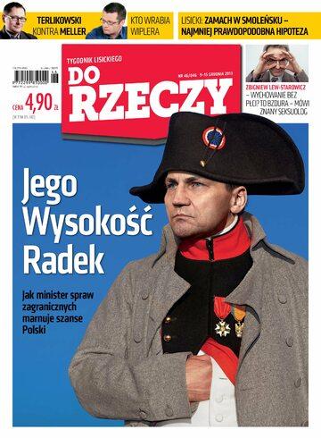 """Okładka tygodnika """"Do Rzeczy"""", wydanie nr 46/2013 (46)"""