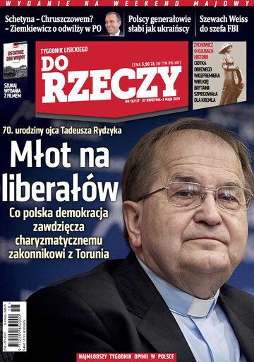 """Okładka tygodnika """"Do Rzeczy"""", wydanie nr 18/2015 (117)"""