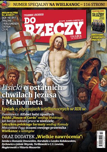 """Okładka tygodnika """"Do Rzeczy"""", wydanie nr 14/2015 (113)"""