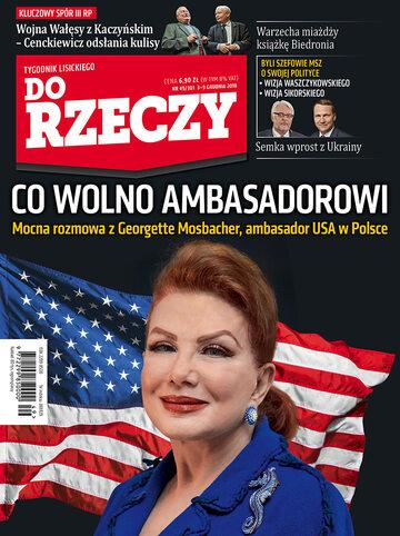 """Okładka tygodnika """"Do Rzeczy"""", wydanie nr 49/2018 (301)"""