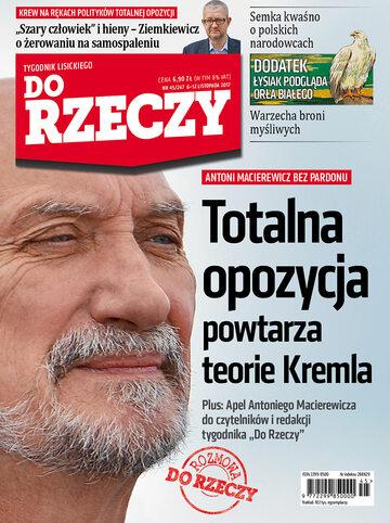 """Okładka tygodnika """"Do Rzeczy"""", wydanie nr 45/2017 (247)"""