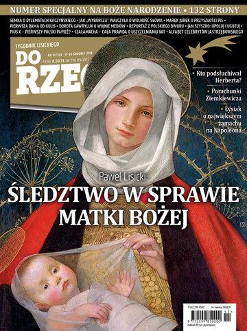 """Okładka tygodnika """"Do Rzeczy"""", wydanie nr 51/2018 (303)"""