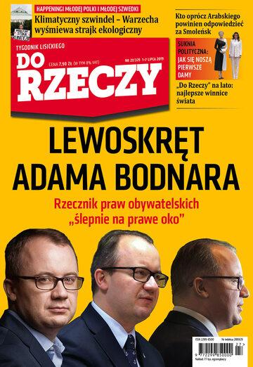 """Okładka tygodnika """"Do Rzeczy"""", wydanie nr 27/2019 (329)"""