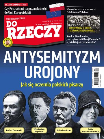 """Okładka tygodnika """"Do Rzeczy"""", wydanie nr 39/2021 (444)"""
