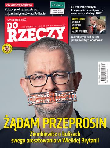 """Okładka tygodnika """"Do Rzeczy"""", wydanie nr 41/2021 (446)"""