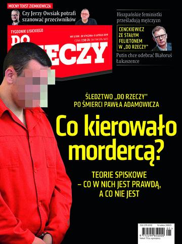 """Okładka tygodnika """"Do Rzeczy"""", wydanie nr 5/2019 (308)"""