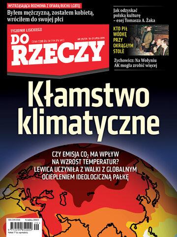 """Okładka tygodnika """"Do Rzeczy"""", wydanie nr 29/2019 (331)"""
