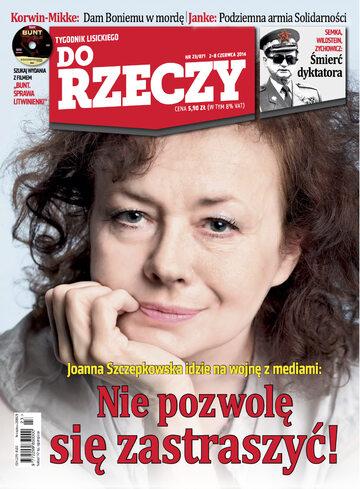 """Okładka tygodnika """"Do Rzeczy"""", wydanie nr 23/2014 (71)"""