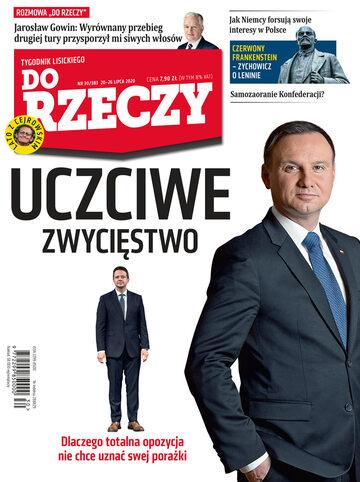 """Okładka tygodnika """"Do Rzeczy"""", wydanie nr 30/2020 (383)"""