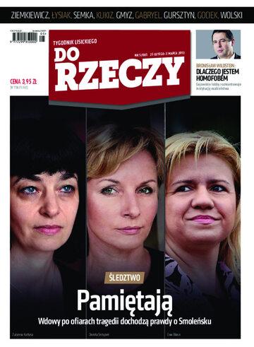 """Okładka tygodnika """"Do Rzeczy"""", wydanie nr 5/2013 (5)"""
