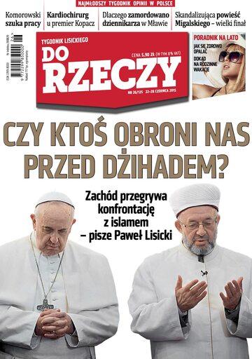 """Okładka tygodnika """"Do Rzeczy"""", wydanie nr 26/2015 (125)"""