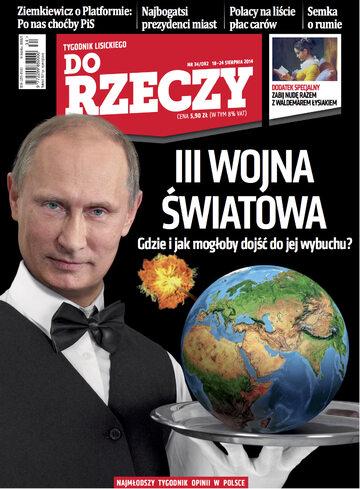 """Okładka tygodnika """"Do Rzeczy"""", wydanie nr 34/2014 (82)"""